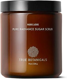 True Botanicals - Organic Pure Radiance Sugar Exfoliating Body Scrub   Clean, Non-Toxic, Natural Skincare (8 oz   226 g)
