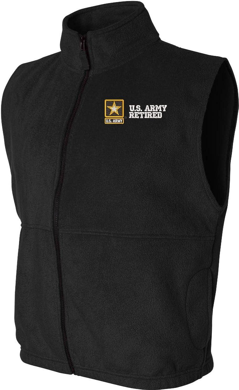 U.S. Army Retired Sierra Pacific Full Zip Fleece Vest