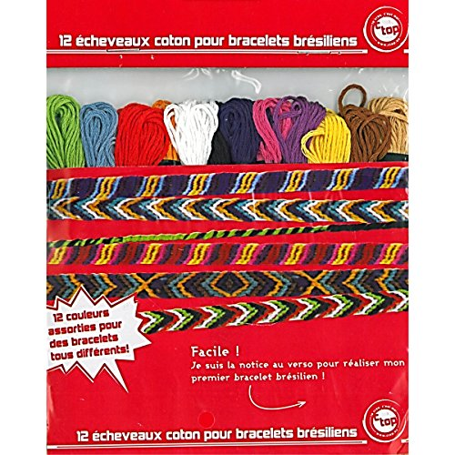 BI2L - 12 Echeveaux coton pour bracelets brésiliens - Multicolore