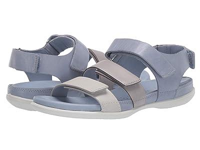 ECCO Flash Flat Sandal (Shadow White/Wild Dove/Dusty Grey) Women