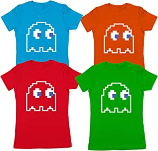 8-Bit Video Game Ghost Halloween Costume Womens Shirt (Multiple Colors Available)