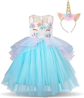 La Senorita Vestido Unicornio Del Arco Iris Niña Xl Collar 7