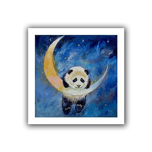 9679f6cfae73 ArtWall Panda Stars Unwrapped Canvas Art by Michael Creese