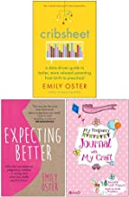 Cribsheet, Expecting Better, Pregnancy Journal with My Craft 3 Books Collection Set