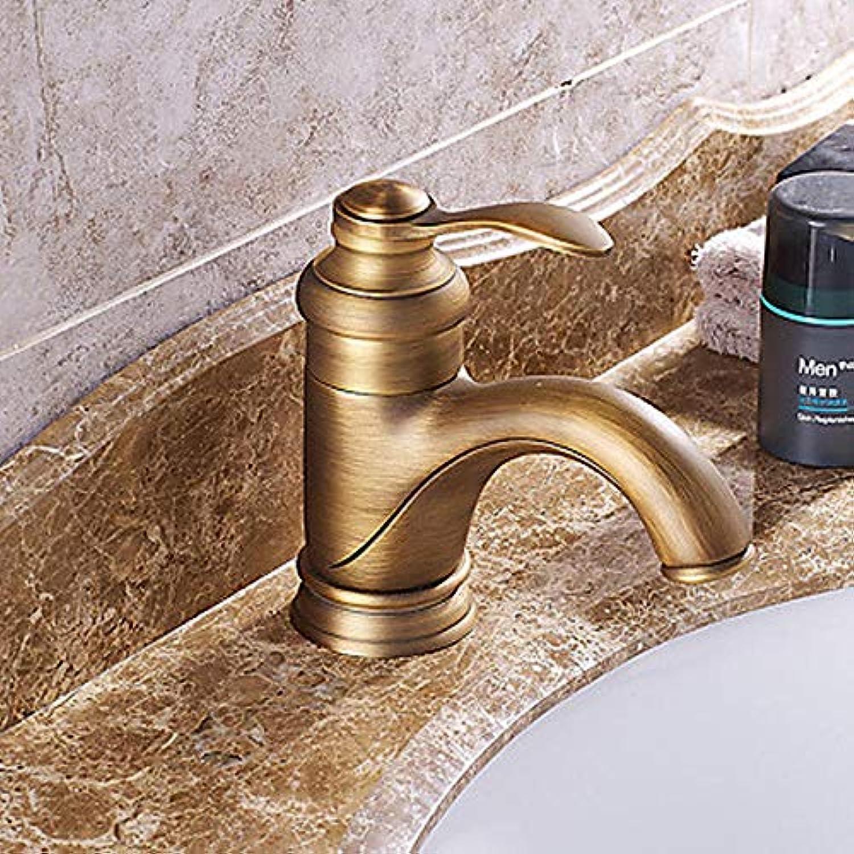 Ayhuir Waschbecken Wasserhahn - Pre-Flush Wasserfall Weit Verbreitet Bronze Breiten Einhand-Einloch-Wasserhahn