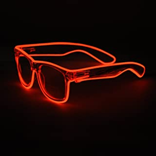 Sydnus EL Wire Rave Sunglasses LED Light Up Party Glasses(Red)