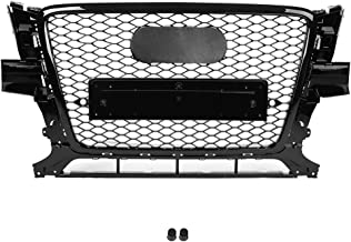 KIMISS Front Sport Hex Mesh Honeycomb Hood Grill Black RSQ5 Style for Audi Q5 8R 2009-2012, Direct Fit