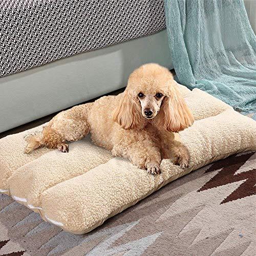 Malayas, letto per cane, cuscino imbottito, rivestito in pile lavabile, con cerniera, ideale anche per gatti (66x 48x 12cm)