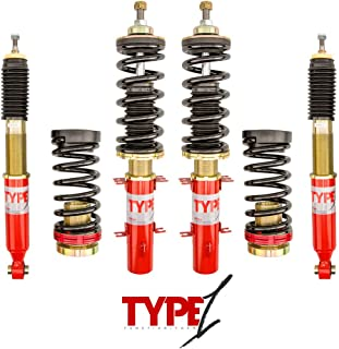 F2 Function and Form Red and Gold Type 1 coilover suspension kit
