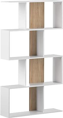 Temahome Meuble de Rangement Sigma, Bianco E Rovere, 89 x 25 x 165 cm (L-P-A)