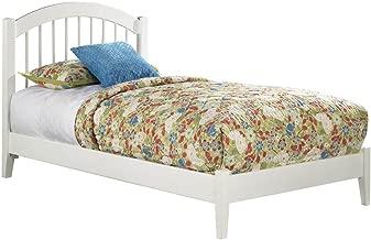 Atlantic Furniture Windsor Platform Bed with Open Foot Board, Full, White