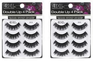 Ardell False Eyelashes 8 Pack Double Up 203, 2 pack (4 pairs per pack)