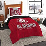 Officially Licensed NCAA Alabama Crimson Tide 'Modern Take' Twin Comforter and Sham