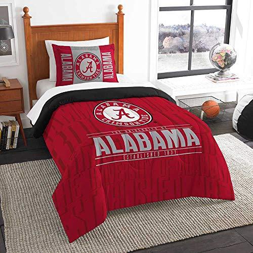 Officially Licensed NCAA Alabama Crimson Tide 'Modern Take' Twin Comforter and Sham