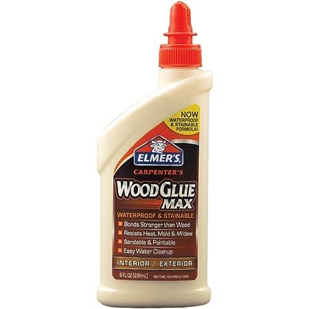 Elmer's Products, Inc Elmer's E7300 Carpenter's Wood Glue Max, 8 Ounces, 8 oz, Tan, 8 Fl Oz