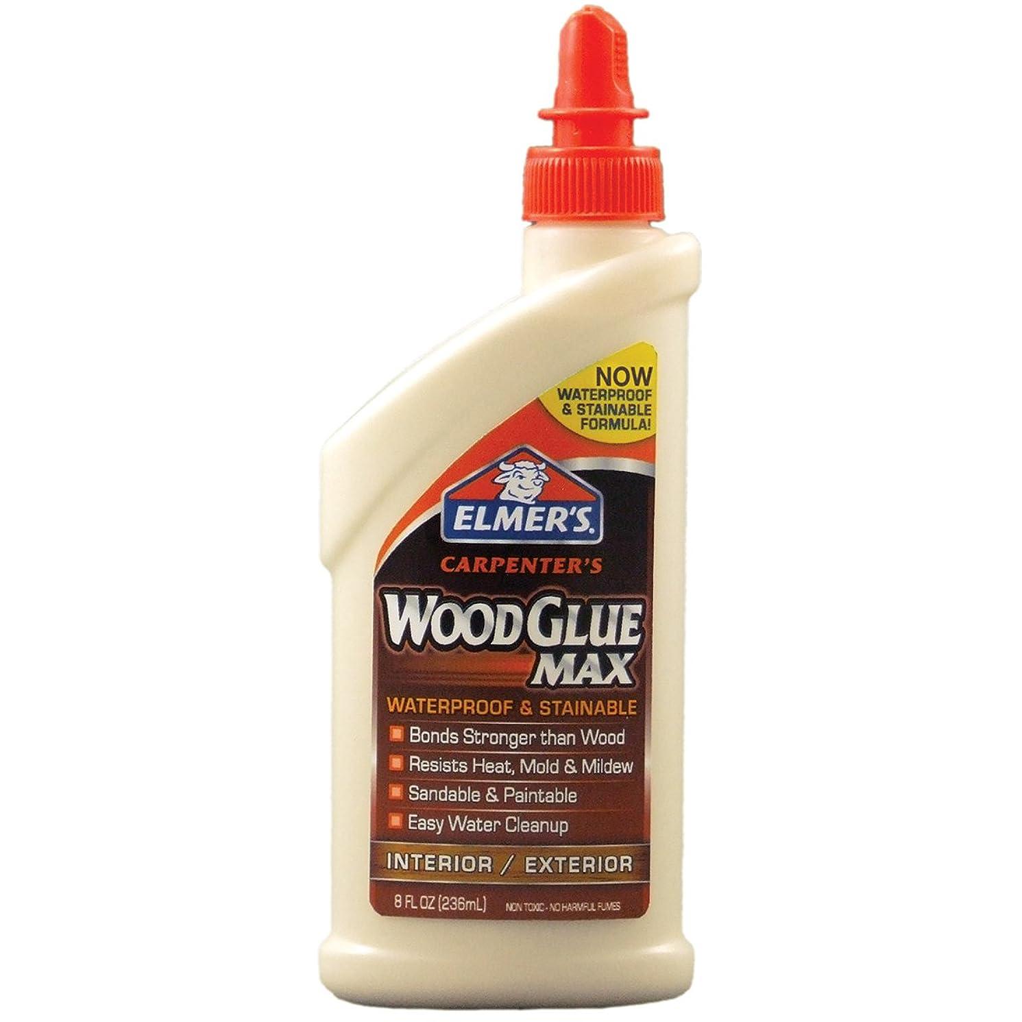 Elmer's Products, Inc Elmer's E7300 Carpenter's Wood Glue Max, 8 Ounces, 8 oz, Tan