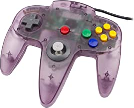 Classic N64 Controller Funtastic Atomic Purple Clear Retro Wired Game Pad Console Joystick for N64 Video Console 64 System