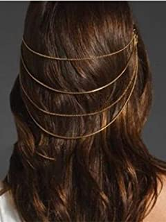 Catery Tassels Headbands Jewelry Bride Rhinestone Head Chain Water Drop Headpiece Wedding Hair Accessories for Women and Girls
