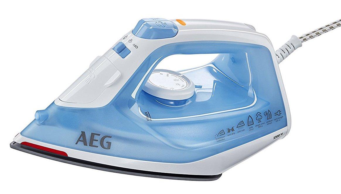 AEG DB1730 Plancha Gran Precisión, Golpe 80g, Vapor Continuo de 0 a 30g/min, Depósito de 250ml, Suela Cerámica, Especial Prendas Delicadas, Sistema Antical, 2.3 W, plástico, Azul: Amazon.es: Hogar