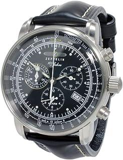 [ツェッペリン] ZEPPELIN 腕時計 クロノグラフ クォーツ 7680 2S 100周年記念 コードバンカーフベルト ブラック メンズ [並行輸入品]
