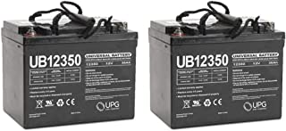 Universal Power Group UB12350 12V 35AH Internal Thread Battery for SUNFIRE Plus GT Chair - 2 Pack