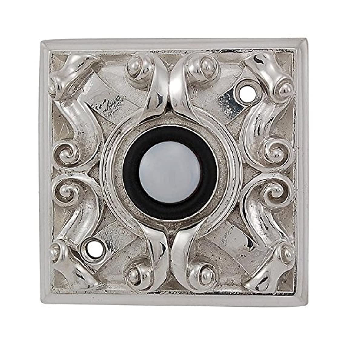 Vicenza Designs D4008 Sforza Square Style Doorbell, Polished Nickel