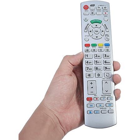 FOSA Mando a Distancia TV Digital de Teclado N2QAYB000504, Control Remoto para Panasonic Smart TV N2QAYB000504 N2QAYB000673 N2QAYB000785 TX-L37EW30 ...