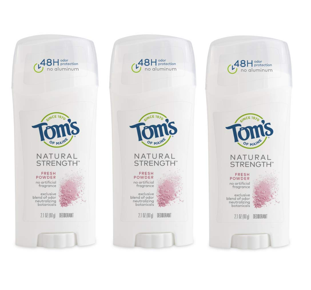 Tom's of Maine Natural Strength Deodorant, Natural Deodorant, 48-Hour Odor Protection, Fresh Sage, 3 Pack : Beauty