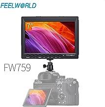 Feelworld FW759 7 Inch IPS Screen HD 1280x800 Ultra-Thin Design On-Camera Field Monitor Portable Small Monitor