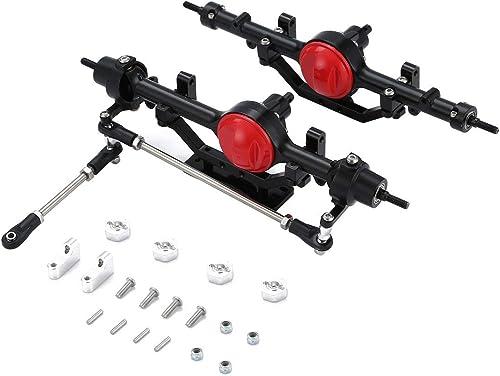 WOSOSYEYO 1 Paire complète d'alliage Avant et essieu arrière pour chenilles RC4WD D90 1 10 RC