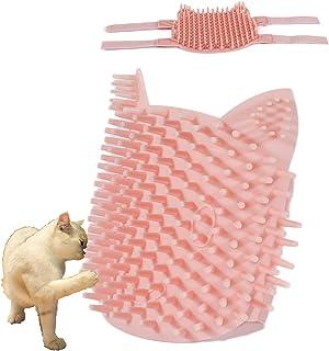 Cat Pet Self Grooming Comb Brush - Multi Functional Catnip Flavor Corner Massage Tool for Kitten Puppy Relaxing, Extra Sof...
