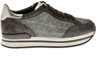 Luxury Fashion   Hogan Women HXW222K021JD60LK68 Grey Leather Sneakers   Season Outlet