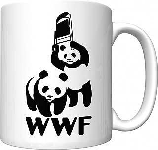 WWF Steel Chair Panda Parody (WWE) Funny Coffee Mug (Newest Version)