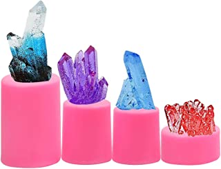 Sakolla Crystal Gem Silicone Fondant Mold for Cake Decoration, Candle, Isomalt Gems, Polymer Clay - Set of 4