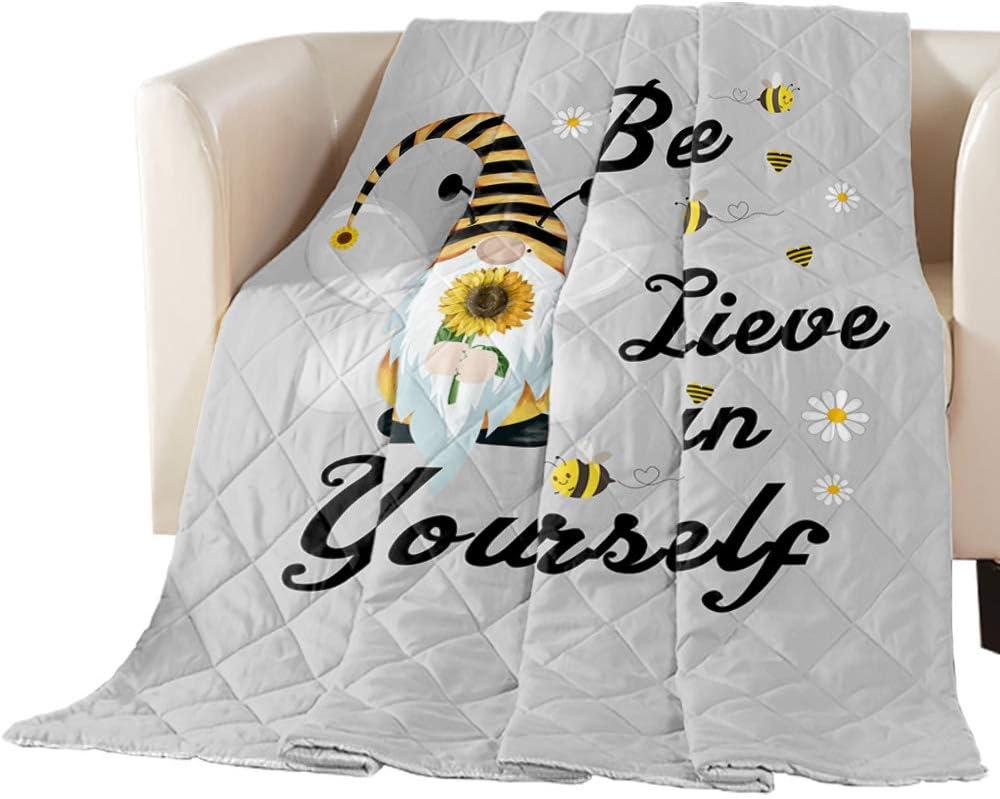 Comforter Finally resale start Duvet Insert Home Quilt- Daisy Sunflower Be Gnome Sales for sale Farm