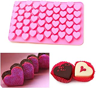 MEILLEUR 55 Mini corazón Pralines de silicona molde para hornear hielo, chocolate y..