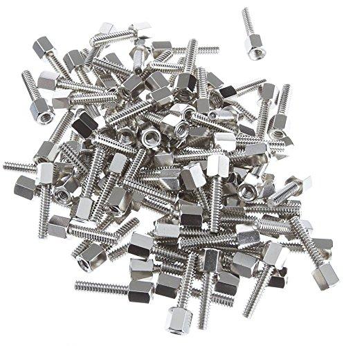 Hex Nut Jack Screw, 100 Pieces, # 4 - 40, 17.08mm