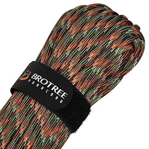 Brotree Paracord Schnur 550 Nylon Seil mit 9 Strängen Fallschirmschnur Reißfestem Kernmantel Seil 280KG Bruchfestigkeit (Standard, Reflektierende)