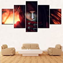 ZDLYY Five canvas paintings home decor Living room wall art canvas print poster picture 5 pieces final VII elegy character painting home decoration,20x35 20x45 20x55(cm)