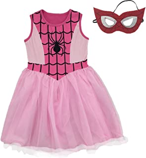 Little/Big Girls Spider-Girl Cosplay Dress Up Costume with Mask