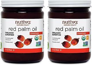 Nutiva Organic Unrefined Fair-Trade Ecuadorian Red Palm Oil, 15 Ounce (Pack of 2) | USDA Organic, Non-GMO, Sustainably-Sou...