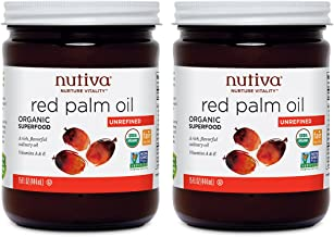 Nutiva USDA Certified Organic, non-GMO, Cold-Filtered, Unrefined, Fair Trade Ecuadorian Red Palm Oil, 15 Ounce (Pack of 2)