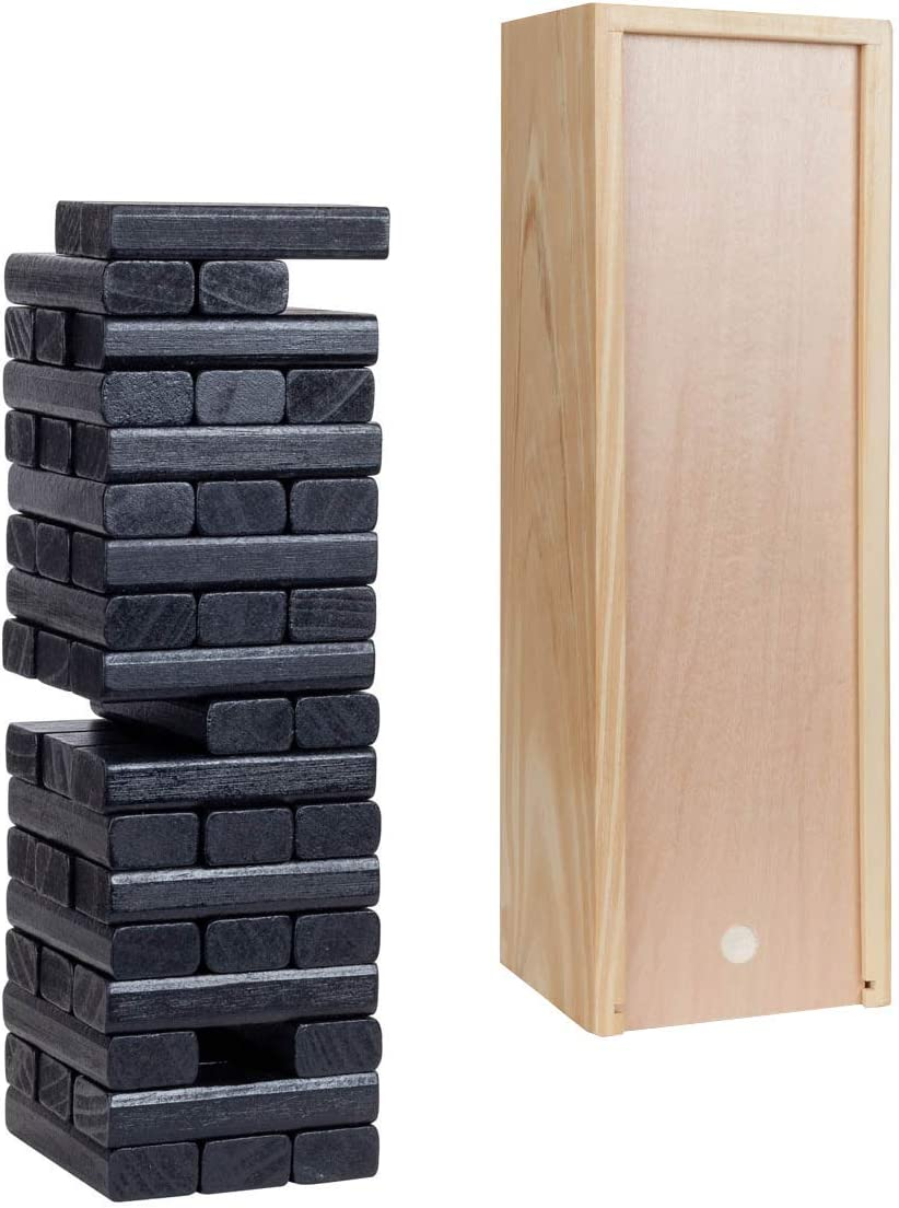 Popular overseas WE Games Direct stock discount Wood Block Party Game - Box in. 12 Wooden Includes and