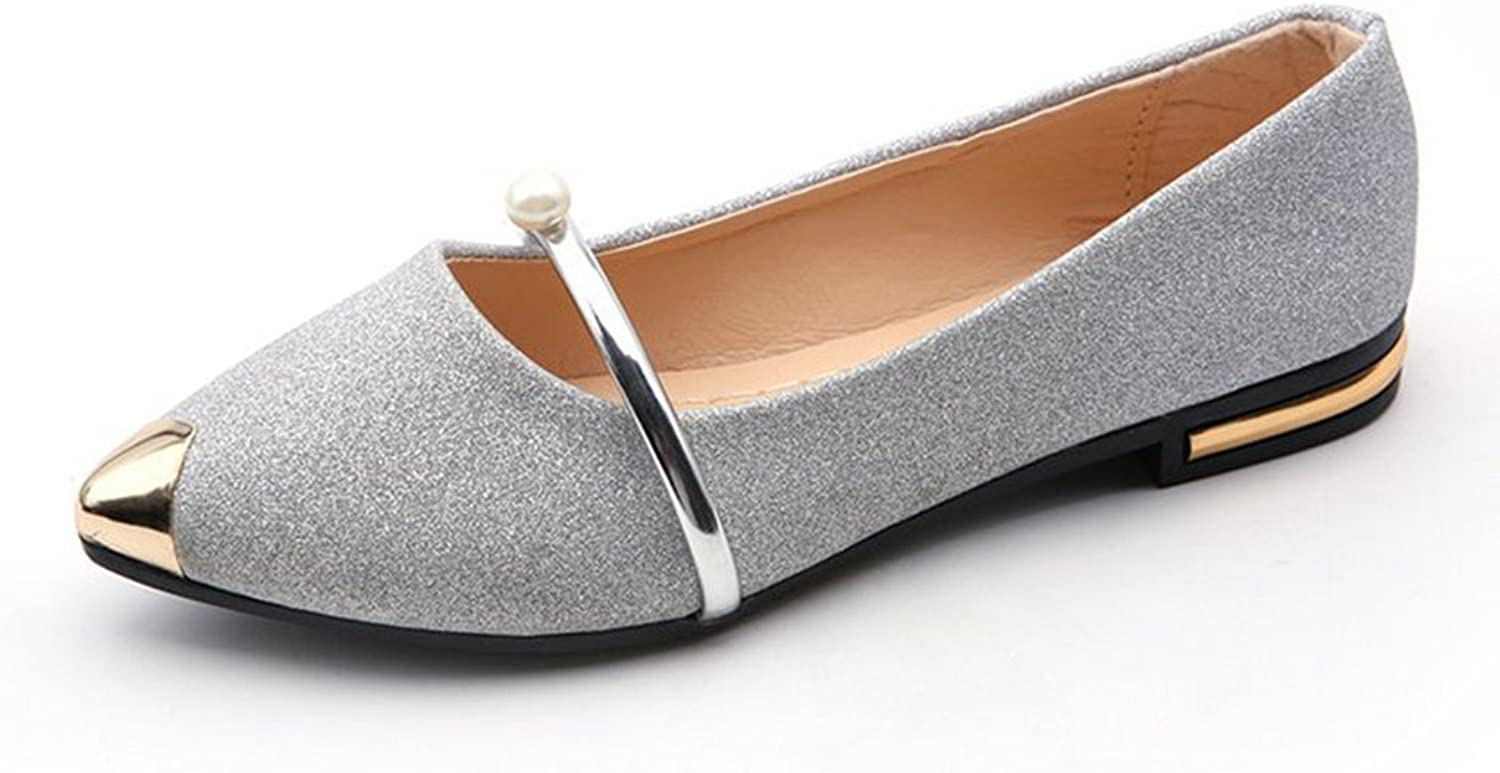 GilesJones Loafers Flat Women,Casual Pointed Toe Sequined Low Heel shoes