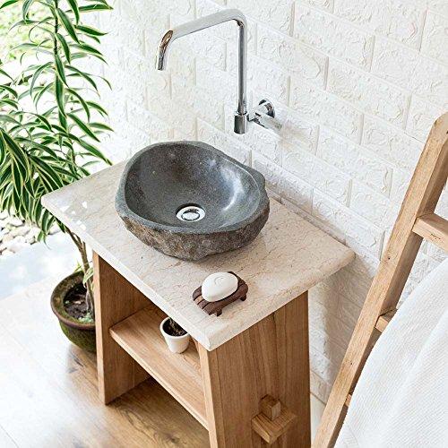 wohnfreuden MArmor Waschtischplatte Creme ✓ 60x40x3 cm Hochglanz poliert ✓ Naturstein-Platte für Waschbecken
