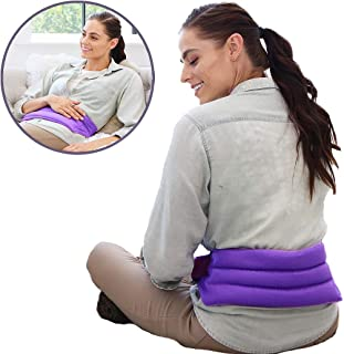 My Heating Pad Microwavable for Lower Back Pain and Menstrual Cramps Relief with Full Body Wrap | Perfect Moist Heat Therapy Pack for Muscle, Lumbar and Stomach Relief | Reusable and Portable (Purple)