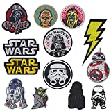 Star Wars Yoda Military Morale Embroidered Patch for Jackets Backpacks Jeans and Clothes Iron On Sew On Appliques Sport Badge Emblem Sign DIY Accessory-13 pcs