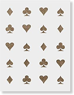 Hearts Clubs Diamonds Spades Stencil Template - Reusable Pattern Stencil with Multiple Sizes Available