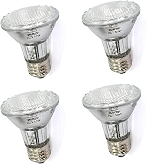 PAR20 50 Watt E26 Medium Base Halogen Flood Light Bulbs,Dimmable Bulbs for Range Hood Lights,Ceiling Fan,Table Light