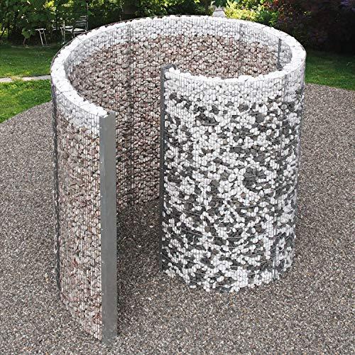 bellissa Gabionen-Schneckendusche - 95630 - Gartendusche in Spiralform - Dekorative Umkleide-Gabione - 230 x 180 x 210 cm